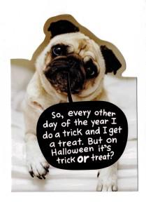 Pug Halloween Card Front