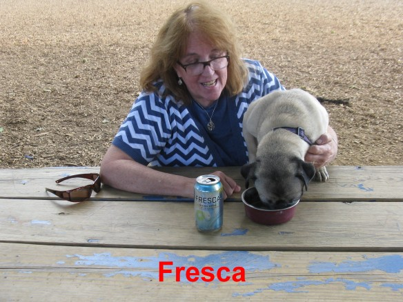 Yummy chicken salad and Fresca